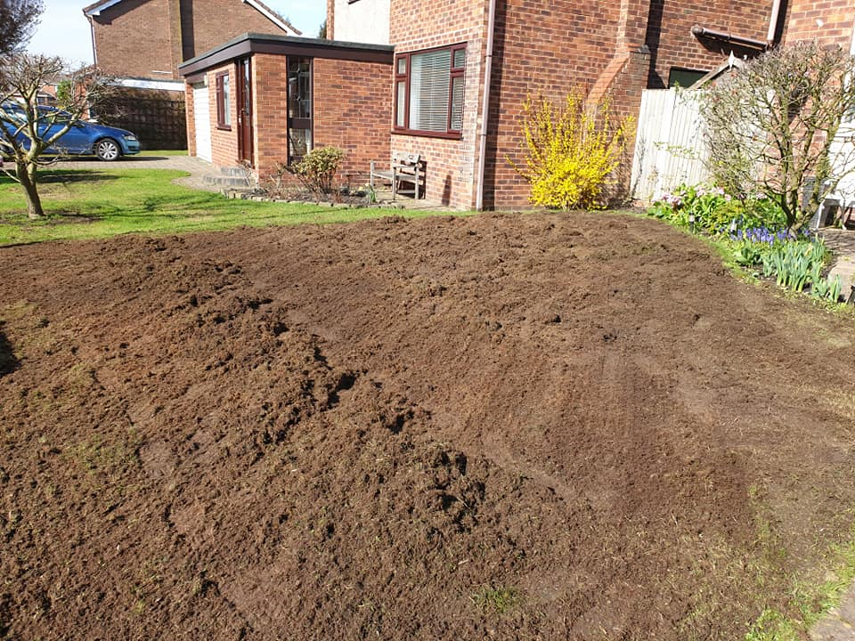 Lawn Renovation in Croft