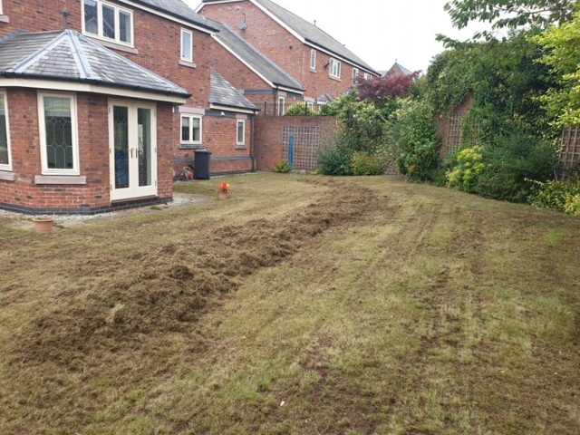 Scarification and aeration in Appleton