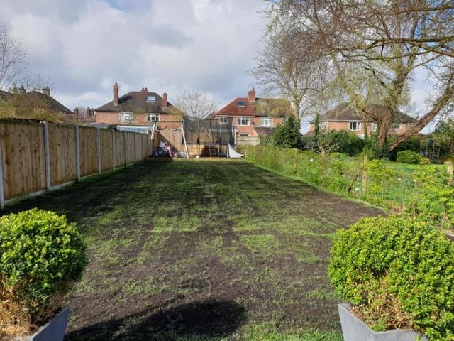 Lawn renovation in Northwich